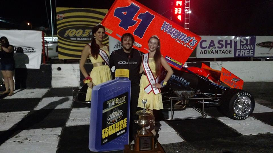 Aaron Willison Wins Roy Smith Memorial Trophy On Night One Of P&R Truck Centre Daffodil Cup With Royal Purple NSRA Winged Sprintcars