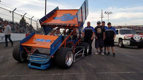 Ryan Burdett Wins Pink Lady Classic Against Royal Purple NSRA Winged Sprintcars/King Of The Wings At Meridian