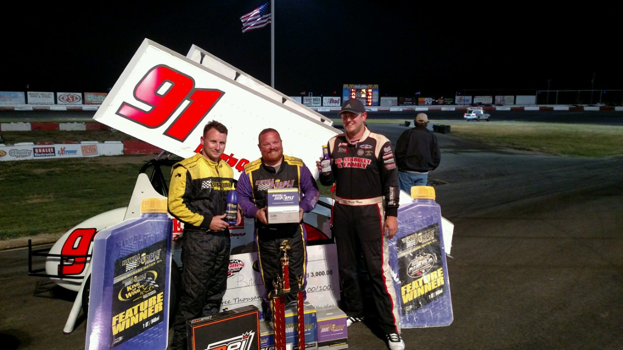 Bryan Warf Tames Royal Purple NSRA Winged Sprintcar/King Of The Wings Field At Magic Valley