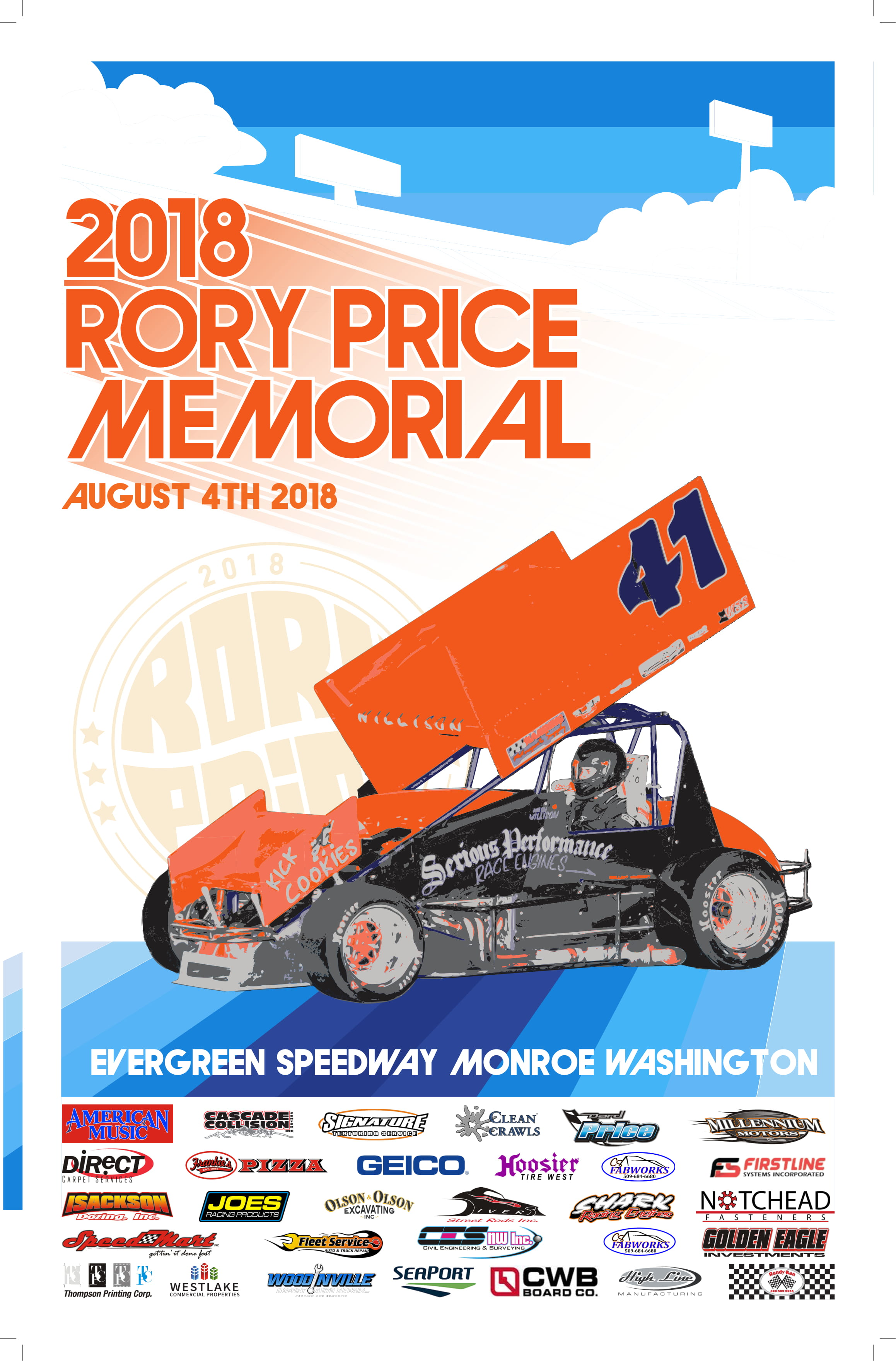 Saturday August 4th Rory Price Memorial Next For NSRA Series; Practice Friday Night